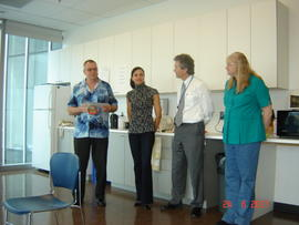 Jerome Gau retirement party, 2011: picture: Jerome Gau, Lenalda Sutherland, Gordon Turner and Sus...