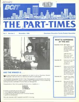 BCIT Part Times, vol.1, no.2, 1990-11