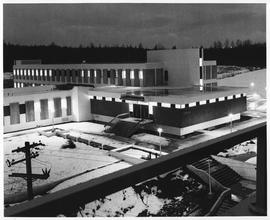 BCIT Library at night 1970. SE14