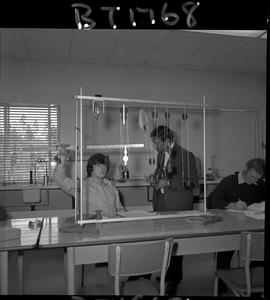 B.C. Vocational School image of an instructor and students in a BTSD Basic Training program labor...