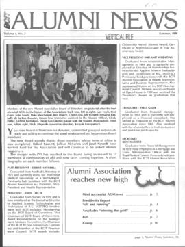 BCIT Alumni Association Newsletter 1986 Summer BCIT Alumni News