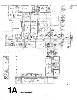 SW01, Facilities inventory Burnaby, formerly building 1A, 1962 Building, floor plan, ca. 1980s