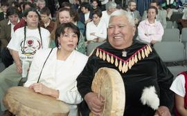 BCIT open house '98, First Nations woman and elder