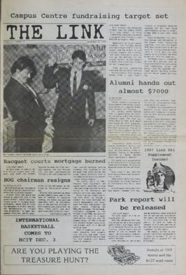 The Link Newspaper 1987-11-25