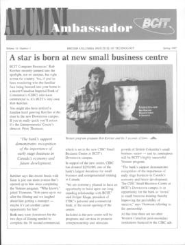 BCIT Alumni Association Newsletter 1997 Spring Alumni Ambassador