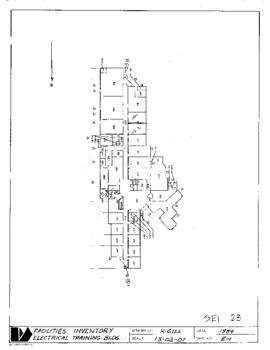 SE01, Facilities inventory Burnaby Bldg. no. 23, Electrical Training Centre (ETC), floor plan, 1984