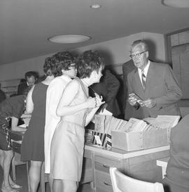 CVA Convention, 1969 ; group of people in foyer of convention [2 of 3]