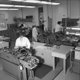 BCVS Graphic arts ; people in a room using various types of printing equipment [2 of 2]