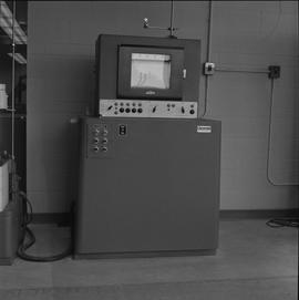 BCIT Materials Testing Lab; Tinius-Olsen equipment