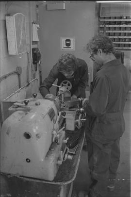 Pacific Vocational Institution ; two trades students working [2 of 2]
