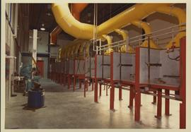 NE08 student welding workstations; Welding building opening May 1983