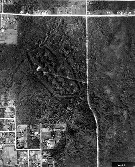 Aerial photograph of BCIT Burnaby Campus 1951 (cropped by BCIT Archivist, 2012-11-13)