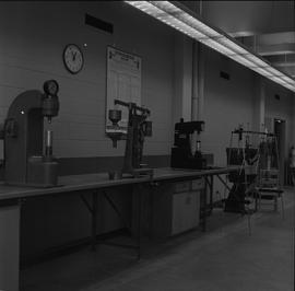 BCIT Materials Testing Lab; Lab harness testing machines