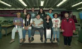 Pre-trade Aboriginal women; sheet metal, group shot of students and instructor [11 of 12 photogra...