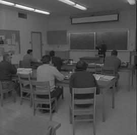 Time keeping, Nanaimo; instructor lecturing to a classroom of students [2 of 2]