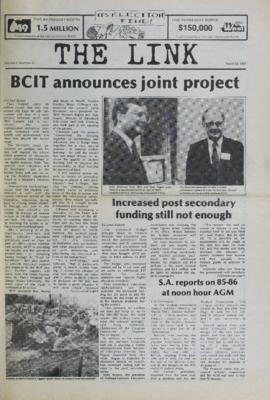 The Link Newspaper 1987-03-25
