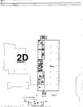 SE14 formerly building 2D Library, ca. 1980s, floor plan, 2nd floor