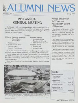 BCIT Alumni Association Newsletter 1987 Spring BCIT Alumni News