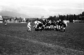 BCIT's Cougar Rugby sports team playing a game on the BCIT sports field. BCIT Recreation [4 of 11...