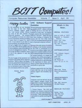 BCIT Computes! Computer Resources Newsletter, vol.7, no.3, 1990-04