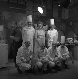 BCVS at Channel 8 TV; host, chefs and TV producer posing for a picture [2 of 3]