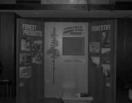 BCIT Forestry conference display, December 1965