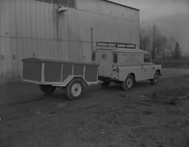 Sheet metal, 1968; truck from BCVS students for British Columbia Youth Salute Guyana Youth with a...