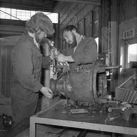 BCVS Heavy duty mechanic program ; two men disassembling a motor [2 of 2]