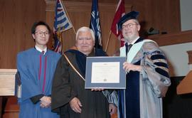 Robert (Bob) George receiving an Honorary Doctorate of Technology; Elder Advisor, BCIT [7 of 19 p...