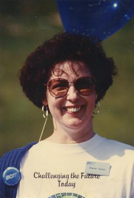 BCIT Open House 1990; Sharon Hatton, Executive Assistant to the President, BCIT