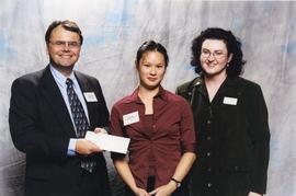 BCIT Alumni Association Entrance Awards, Nov. 7, 2001; Karen Tsui, presented by Brian Brooke and ...