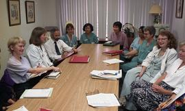 Health part-time, Hemodialysis, St. Paul's Hospital, meeting, people around a large table [2 of 7...
