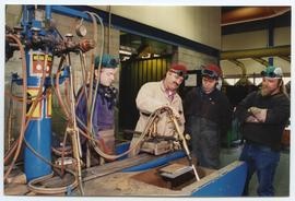 BCIT Welding trades steel trades 1992 [1 of 9 photographs]