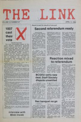The Link Newspaper 1984-04-11