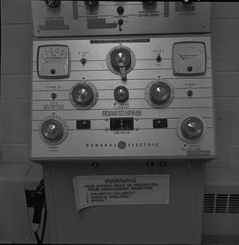 Medical radiography; control panel for a General Electric x-ray generator