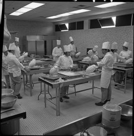 BC Vocational School Baking Course ; students working in the kitchen [2 of 3]