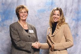 BCIT Alumni Association Entrance Awards, Nov. 7, 2001; Sarah Osachoff, presented by Brenda Dumont...
