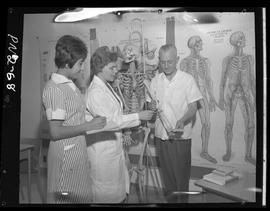 BCIT practical nursing students and staff in 1968 [2 of 6 photographs]