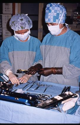 Advanced critical care studies, operating room, December 13, 1987 [5 of 9 photographs]