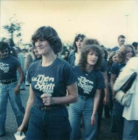 Student Rally 1984 ; a group of students