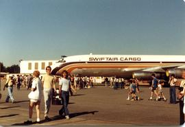 Airplane and crowds at Abbotsford Air Show August 8, 1980