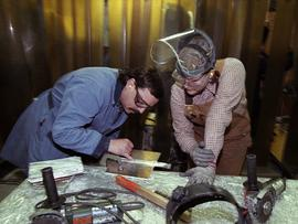 Aluminum welding students 1998