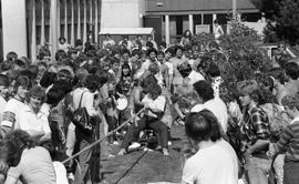 Tug-of-war and spectators, outside SE16 [2 of 2]
