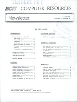 BCIT Computer Resources Newsletter, vol.4, no.4, 1986-05-05