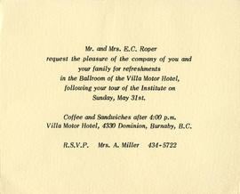 Mrs. A. Miller RSVP to re...