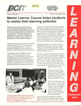 BCIT Learning Resources Unit newsletter, vol.1, no.3, 10-1991
