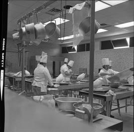 BC Vocational School Baking Course ; students working in the kitchen [1 of 3]