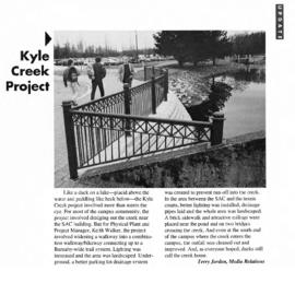 1993 Kyle Creek Project Update (from page 5 of BCIT Update 1993-03-08)