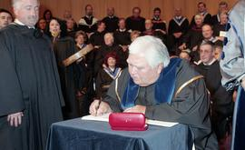 Robert (Bob) George receiving an Honorary Doctorate of Technology; Elder Advisor, BCIT [9 of 19 p...