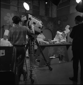 BCVS at Channel 8 TV; television set where chefs are preparing food [3 of 4]
